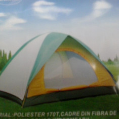 CORT 4 PERSOANE CAMPING, PESCUIT, COVOR IMPERMEABIL(Cel mai ieftin)