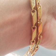 Lant model VERSACE Inox(otel inoxidabil) Placat - Lantisor placate cu aur