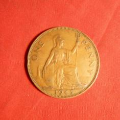 Moneda 1 Pence 1945 Anglia, George VI, bronz, cal.F.Buna, Europa