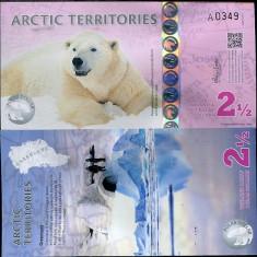 TERITORIILE ARCTICE ( ARCTIC TERRITORIES ) 2,5 DOLLARS 2013 UNC