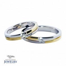 Set verighete cu diamant PAL-VEG-009