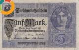 Germania 5 marci 1917, circulata, stare foarte buna, din primul razboi mondial, 20 roni
