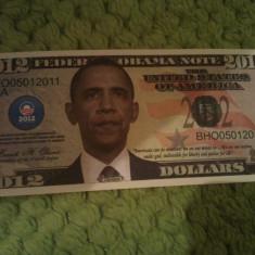 Federal Obama Note 2012 seria BHO05012011 UNC, necirculata, 5 roni