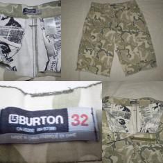 BERMUDE, PANTALONI TREI SFERTURI 3/4 BURTON - model camuflaj - Bermude barbati