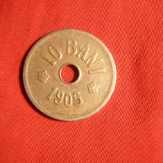 Moneda 10 Bani 1905 ,Carol I,metal alb ,cal.Buna