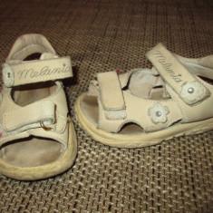 Sandale marimea 22 fete - Sandale copii Melania, Culoare: Bej, Bej