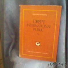 DREPT.INTERNATIONAL.PUBLICdeG.GEAMANU./1981/503pag/ca.nou/cartonat - Carte Drept international