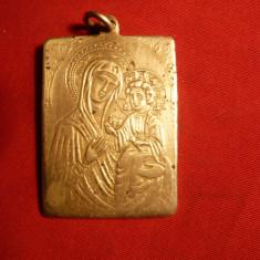 Medalion - Iconita bronz -Inst. Bibl.al BOR - Icoana din metal