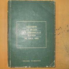 Culegere decizii ale Tribunalului Suprem 1965