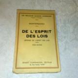 Montesquieu - De L'esprit des lois - interbelica - in franceza - doar volumul 2 - Carte veche