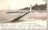 CPI (B2493) GENEVE, LA COLONNE DU PORT NOIR, CIRCULATA 21.12. 1905, STAMPILE, TIMBRU, Europa, Printata