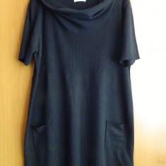 Rochita neagra tricotata YESSICA - marimea XL - Rochie tricotate, Culoare: Negru, Negru, Scurta, Acril