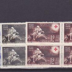Crucea rosie, bloc de 4, nr lista 151, Romania. - Timbre Romania