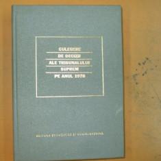 Culegere decizii ale Tribunalului Suprem 1978