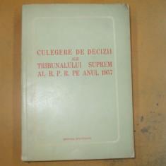 Culegere decizii ale Tribunalului Suprem 1957