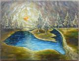 Peisaj, pictura semnata