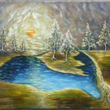 Peisaj, pictura semnata - Pictor roman