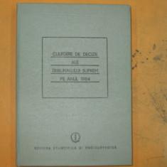 Culegere decizii ale Tribunalului Suprem 1984