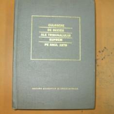 Culegere decizii ale Tribunalului Suprem 1979