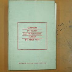 Culegere decizii ale Tribunalului Suprem 1975
