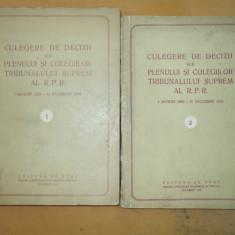 Culegere decizii ale Tribunalului Suprem 1954 2 vol