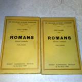 Voltaire - Romans - 2 volume - interbelica - in franceza - Carte veche