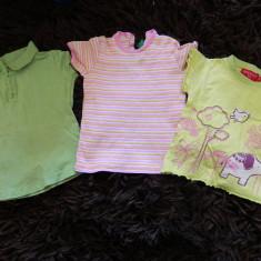 Set 3 tricouri de vara pentru copii, marimea 74-86, la pret de unu, Din imagine