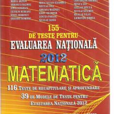 (C3836) MATEMATICA CLASA A VIII-A, AUTORI: ARTUR BALAUCA SI COLECTIVUL, TESTE PENTRU EVALUAREA NATIONALA 2012, EDITURA TAIDA, IASI, 2011 - Manual scolar, Clasa 8