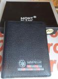Portofel MontBlanc din piele model nou cod 803, Negru