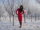 Rochie rosie cu dantela, 37, Rosu, Scurta