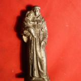 Statueta ( corp sigiliu ?)- Sf. Anton de Padova - f. veche - Sculptura, Metal