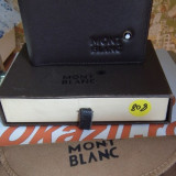 Portofel MontBlanc din piele model nou cod 808, Maro