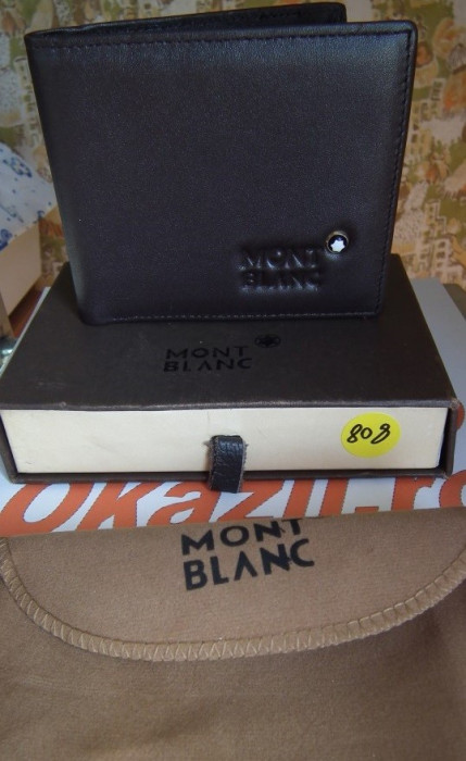 Portofel MontBlanc din piele model nou cod 808