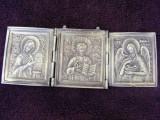 Triptic rusesc vechi din bronz