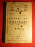 Carnet de Asigurare 1940-1943 cu 52 Timbre Fiscale