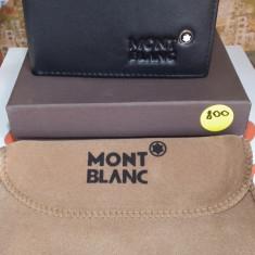 Portofel MontBlanc din piele model nou cod 800, Negru