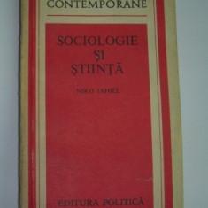 Niko Iahiel SOCIOLOGIE SI STIINTA Ed. Politica 1984
