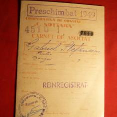 Carnet Asociat - Cooperativa de Consum C.Nottara 1949, Romania 1900 - 1950