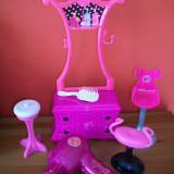 Set de coafura Barbie cu feon cu sclipici