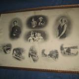 Familia regala belgiana- foto originala mare veche, piesa de colectie. - Fotografie