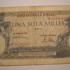 100000 lei 1946 aprilie - Bancnota romaneasca