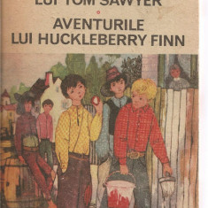 (C3827) AVENTURILE LUI TOM SAWYER, AVENTURILE LUI HUCKLEBERRY FINN DE MARK TWAIN, EDITURA ION CREANGA, BUCURESTI, 1988, ILUSTRATII DE STEFAN NASTAC - Carte educativa