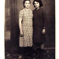 AA13 - FOTOGRAFIE VECHE - MODA - ANII 1920 - DOAMNE IN ROCHIE - STUDIO BUCURESTI