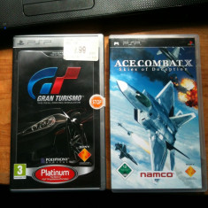 Jocuri PSP Sony . GRAN TURISMO / ACE COMBAT X, Curse auto-moto, 12+, Single player
