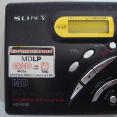 Minidisc SONY-MZ-R 500, recording walkman portable - CD player