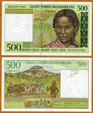 MADAGASCAR 500 FRANCI 1994 UNC