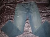 Blugi dama Versace Jeans Couture, 100% originali, 29, Lungi, Albastru
