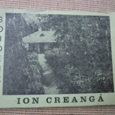 Bojdeuca Ion Creanga brosura pliant ilustrat foto hobby de colectie - Album Muzee