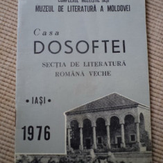 Casa dosoftei muzeul de literatura a moldovei iasi 1976 carte cultura muzeu arta