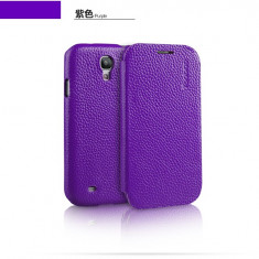 Husa Executive Piele Naturala Samsung Galaxy S4 i9500 by Yoobao Originala Purple - Husa Telefon